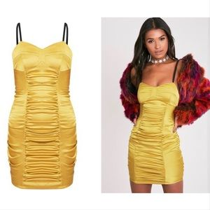 PrettyLittleThing Lauriana lime strappy bodycon